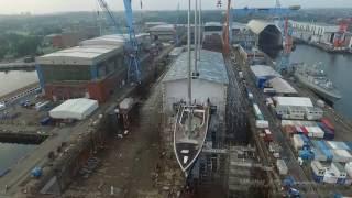Sailing Yacht A  German Naval Yards Kiel  13.08.2016 HD