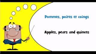 FRANCAIS ANGLAIS = Fruits et fruits à coque