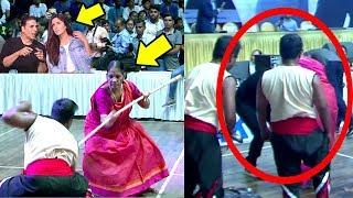 Akshay kumar & katrina kaif touch feet of 80 yr old martial arts women will melt ur heart