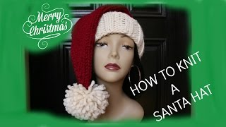 How to Knit a Santa Hat In a Few Hours