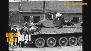 1941 - Germany invades USSR:  Train Krakow, East Poland, Ukraine, USSR, (kro13)
