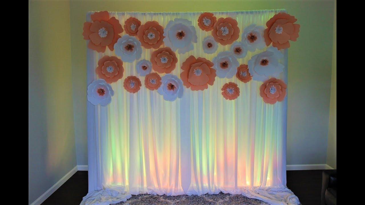 paper flower backdrop diy bridal shower