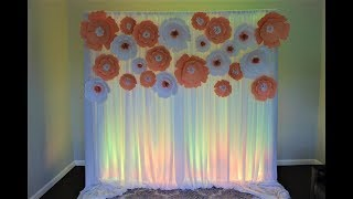 Paper Flower Backdrop DIY Bridal Shower