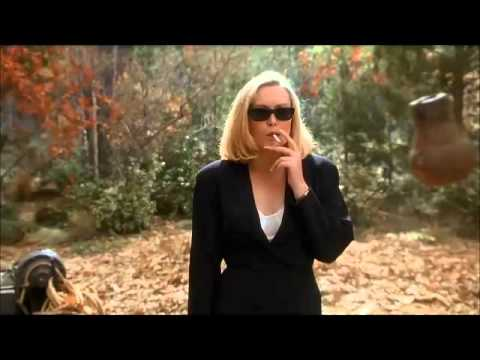 Cathy Moriarty smoking