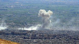 Luftangriff in Syrien nach mutmaßlicher Giftgas-Attacke