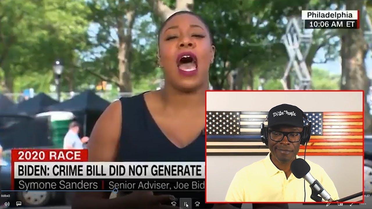 Anthony Brian Logan - Symone Sanders FAILS To Defend Joe Biden For Writing 94 Crime Bill!