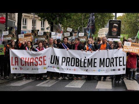 2ème Marche unitaire contre la chasse - Le défilé complet