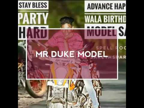 Happy birthday model sai & dj shiva by saketh sparkzz