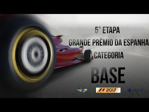 LIGA F1 Brasil Ao vivo - F1 2017 PS4 - Categoria Base - 5ª Etapa GP Espanha - Narração ZUQUEIRO