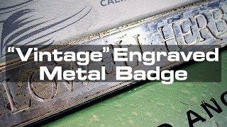 Engraved Metal Badge for a Vintage Vending Machine