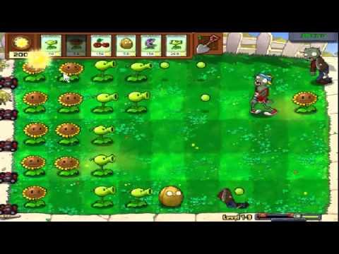 Plants vs zombies (Trồng cây bắn zombie) - Cấp độ 1-9 (Game Việt Hóa)