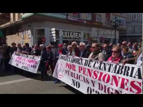 Manifestación en Santander a favor de la subida de las pensiones | 5 mayo