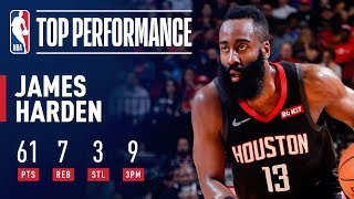 James Harden's UNBELIEVABLE Clutch 61 Point Performance | March 22, 2019