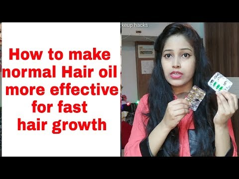 Hair oiling and Haircare tips in Hindi|Make normal hair much effective|Vitamin E capsules for hair