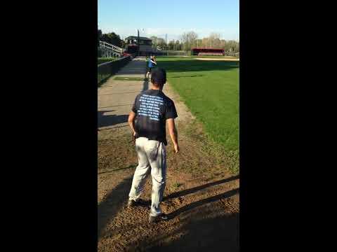 Garrett Gagnon Sidearm Pitching - Season Backstop Angle
