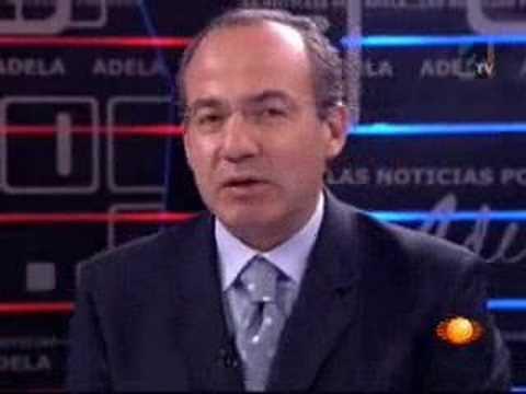Felipe Calderón con Adela Micha 2