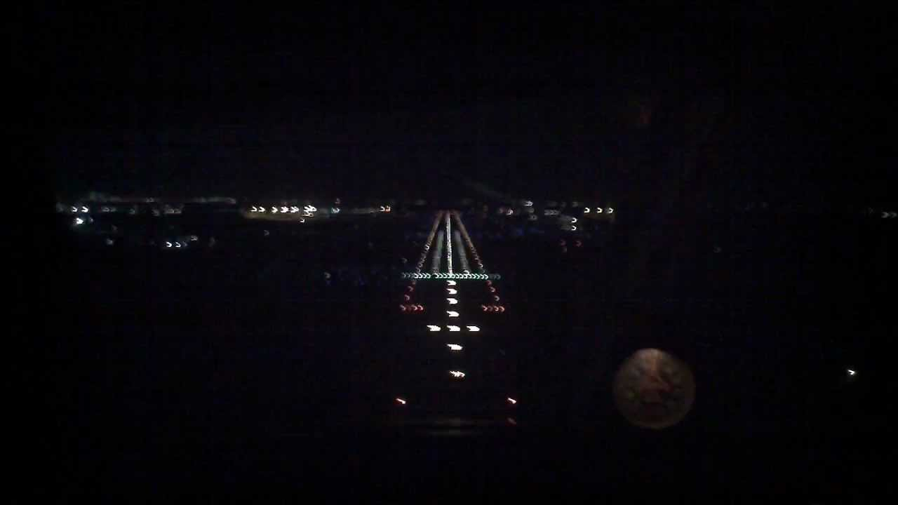 KDAB Approach Lighting System Night Landing Seneca PA34