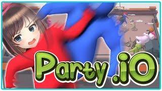 【Party.io】ふにゃふにゃ人間を投げ飛ばすゲームを実況してみた!
