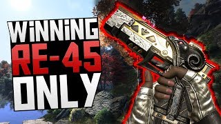 WINNING WITH RE-45 ONLY in APEX LEGENDS