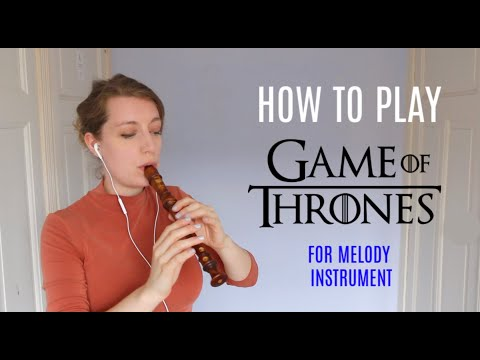 GAME OF THRONES Theme Recorder Tutorial | Team Recorder