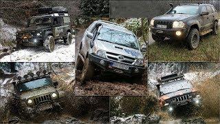 Jeep Grand Cherokee vs Jeep Wrangler vs Land Rover Defender vs Toyota Hilux