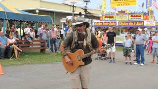 one man band at 2013 wv state fair