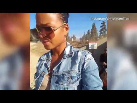 Christian Milian takes her mom horseback riding for first time