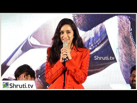 Actress Shraddha Kapoor cute speech | Saaho Press Meet in Chennai