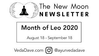 New Moon Newsletter - Leo 2020