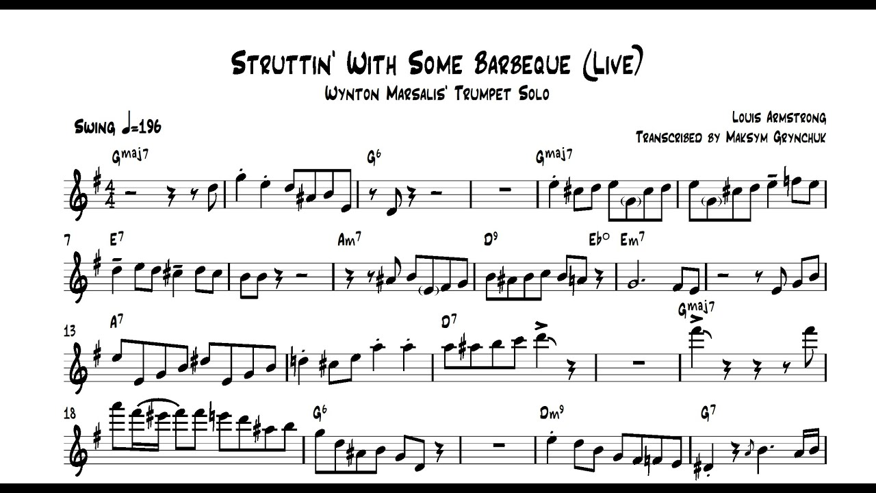 Wynton Marsalis - Struttin' With Some Barbecue (Live) Trumpet Solo