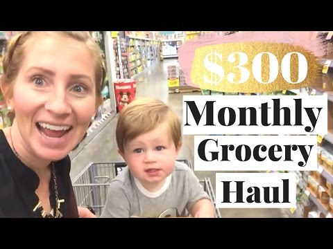 $300 Budget Monthly Grocery Haul | How to Get Money Back on Groceries!