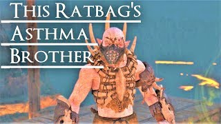 Shadow of War: Middle Earth™ Unique Orc Encounter & Quotes #24 RATBAG'S BROTHER??