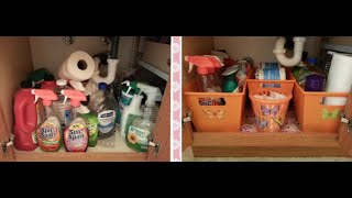 Dollar Tree Organizing - Under The Sink Bathroom Cabinet