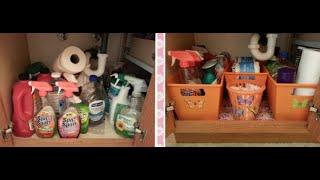 Dollar Tree Organizing - Under The Sink Bathroom Cabinet