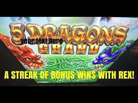 5 DRAGONS GRAND SLOT-WINNING BONUSES WITH REX