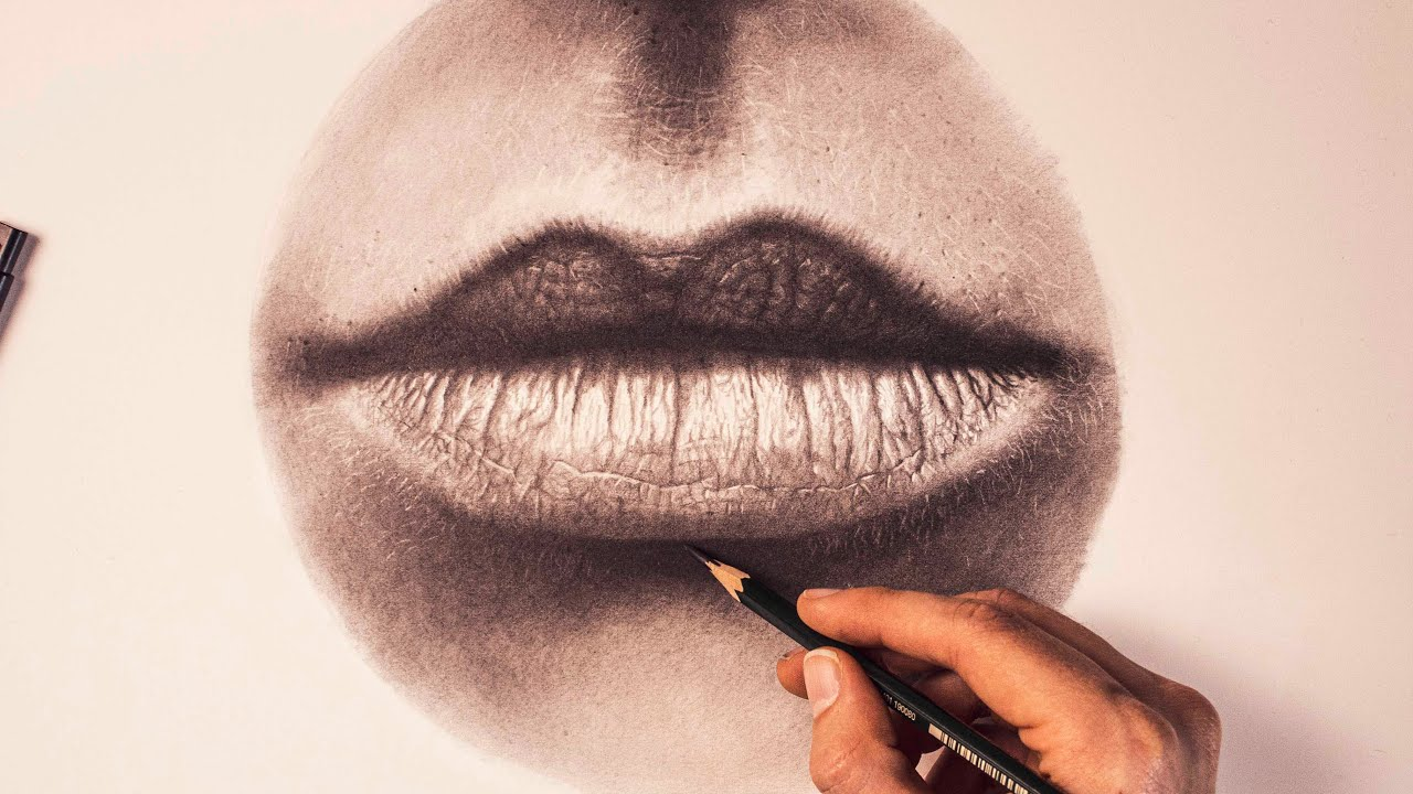 How to draw Realistic Lips - Step by step