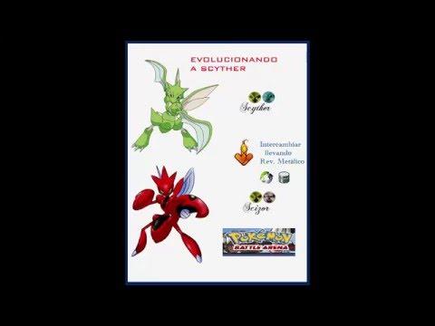 Como Hacer Evolucionar A Scyther Kadabra Rhydon Y Mas Pokemon Battle Arena Youtube