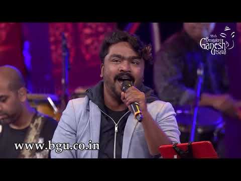 """Neene Rama Neene Shama""By Shankar Mahadevan and Arjun Janya At 55th Bengaluru Ganesha Utsava"