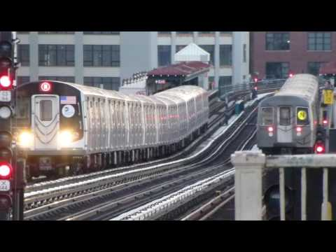 BMT Astoria Line: R68 & R160A-2 N Trains at 36th-Washington Aves-31st St