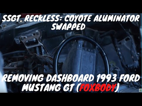 Ssgt  Reckless Mustang Build Dash Board Removal Video#11 By Folleh Shar Tamba