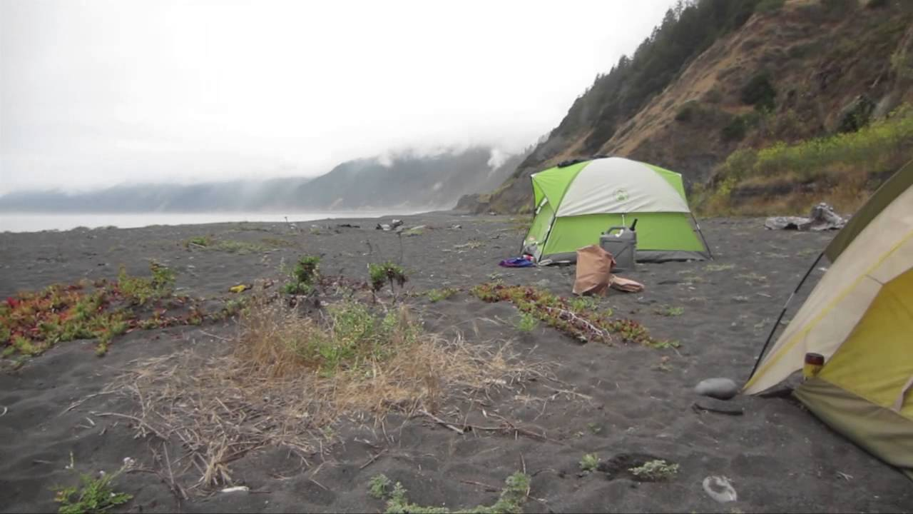 Camping At Black Sand Beach Shelter Cove Ca