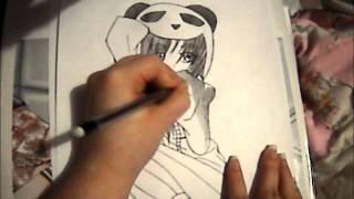 Anime Panda Girl Drawing!! アナイム・パンダー・ガール!!
