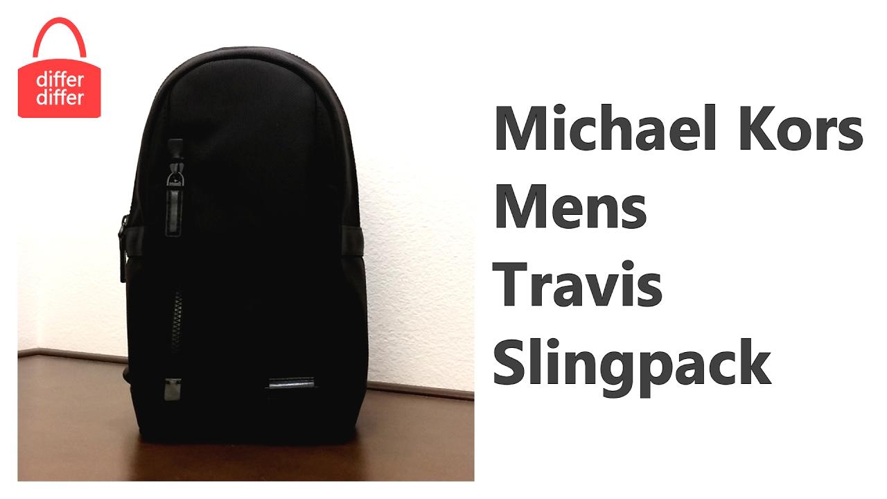 a64d0bf91f5a Michael Kors Mens Travis Slingpack 37T6TVSC8C - YouTube