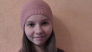 Вязание молодежной шапки спицами. Видео урок.