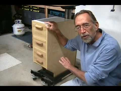 The Down to Earth Woodworker - Drill Press Cabinet - YouTube