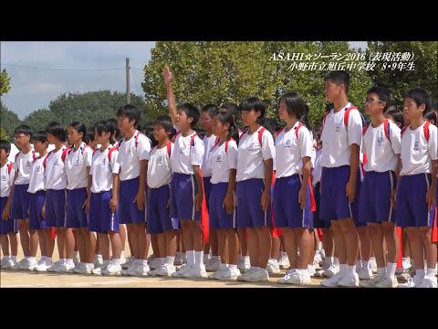 平成28年度 小野市立旭丘中学校  部活動行進   by 映像祭り野郎
