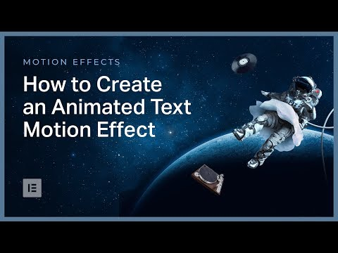 Advanced Tutorial: How to Create an Animated Text Effect in Elementor