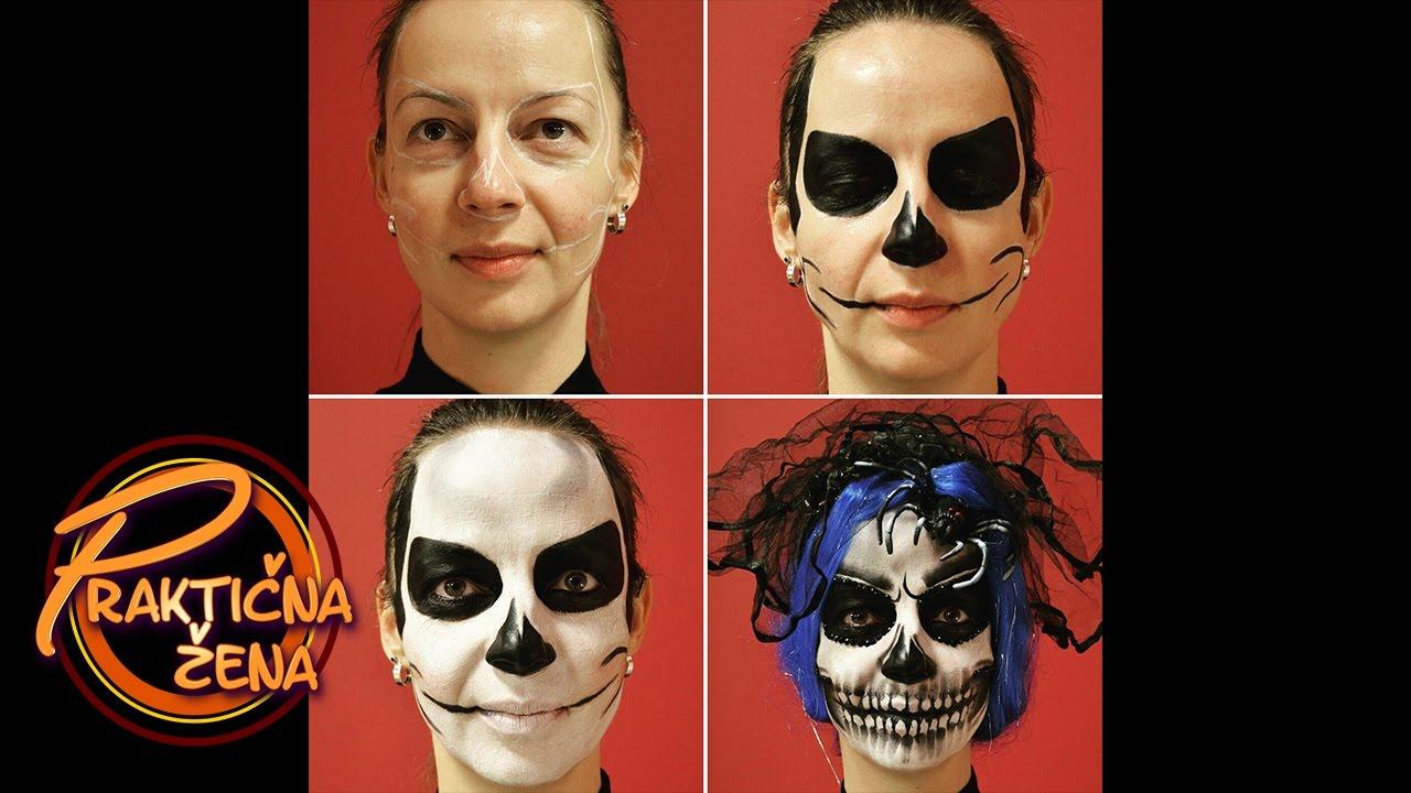 praktična žena - specijalna frizura i šminka za halloween - youtube