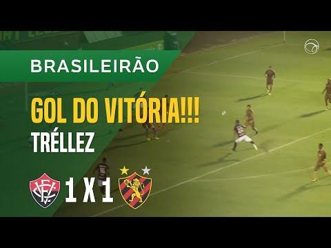 GOL (SANTIAGO TRÉLLEZ) - VITÓRIA X SPORT - 12/10 - BRASILEIRÃO 2017