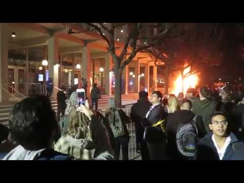 Image result for protest at berkeley 2017 you tube